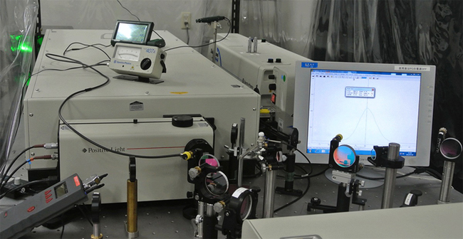 Laser experimental system of fs-time resolution
